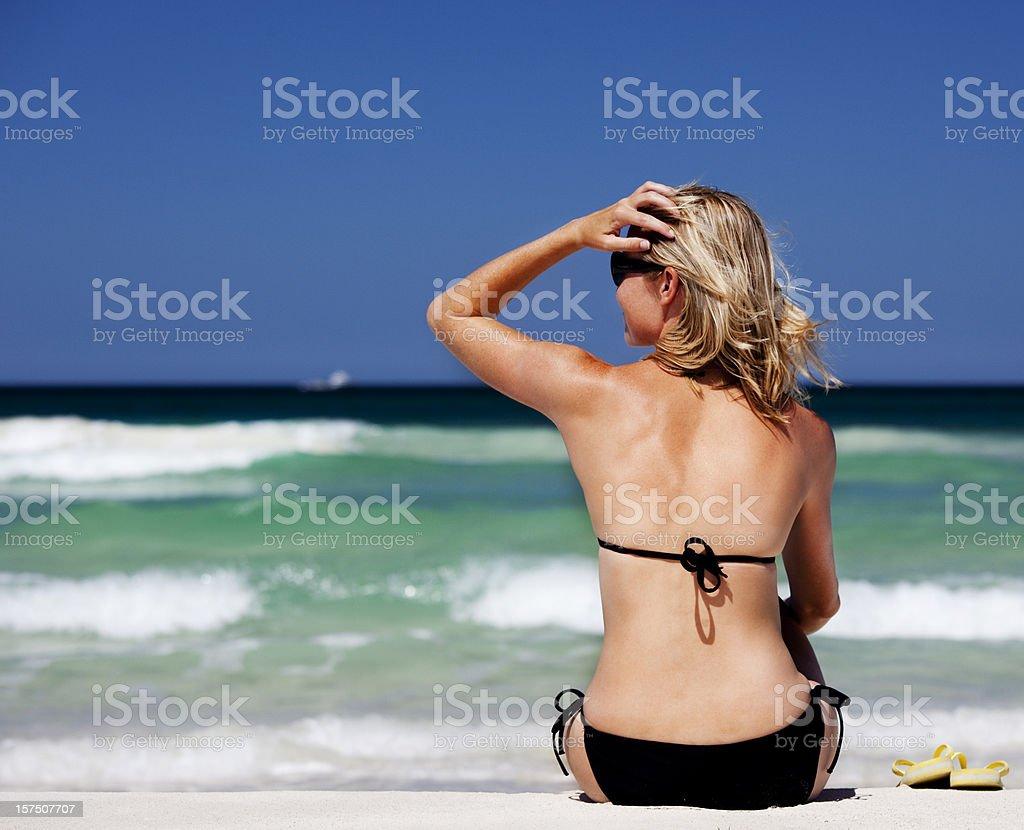 Beach babe royalty-free stock photo