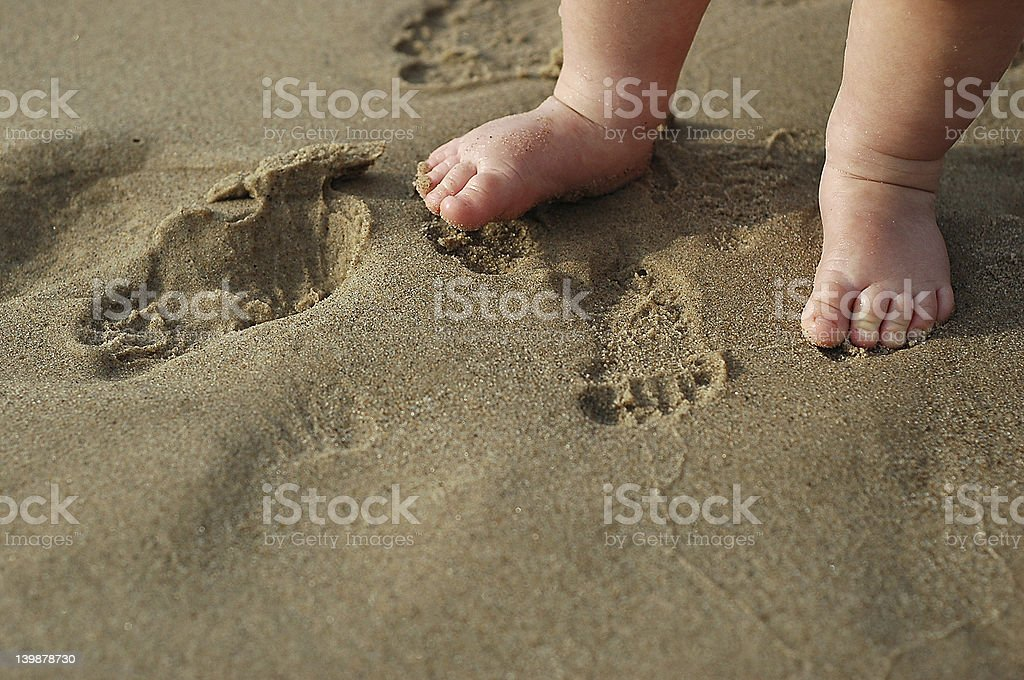 Beach Baby Feet stock photo