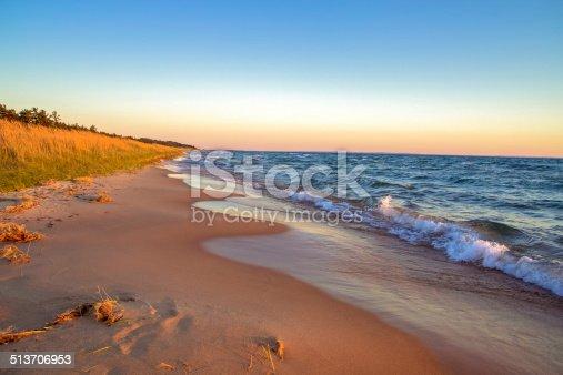 Gorgeous sandy beach stretches to the horizon.