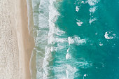 Aerial view of beach background.