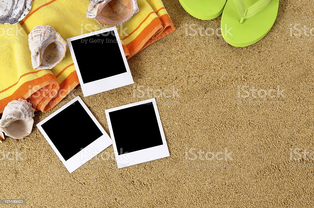 Beach background with photos royalty-free stock photo