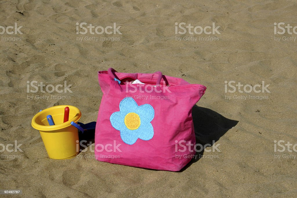 Beach Bag and Bucket royalty-free stock photo