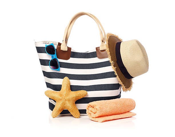 Beach bag concept stock photo