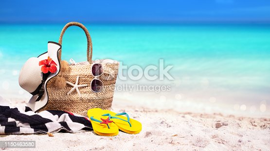 Summer Vacation - Accessories In Beach Bag