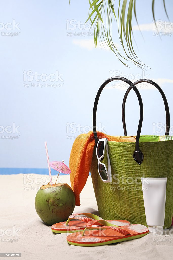 Beach Bag royalty-free stock photo