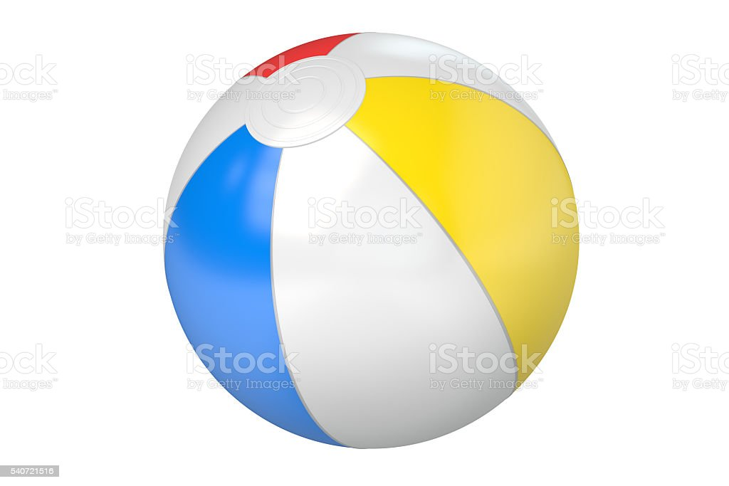 Beach Ball, 3D rendering stock photo