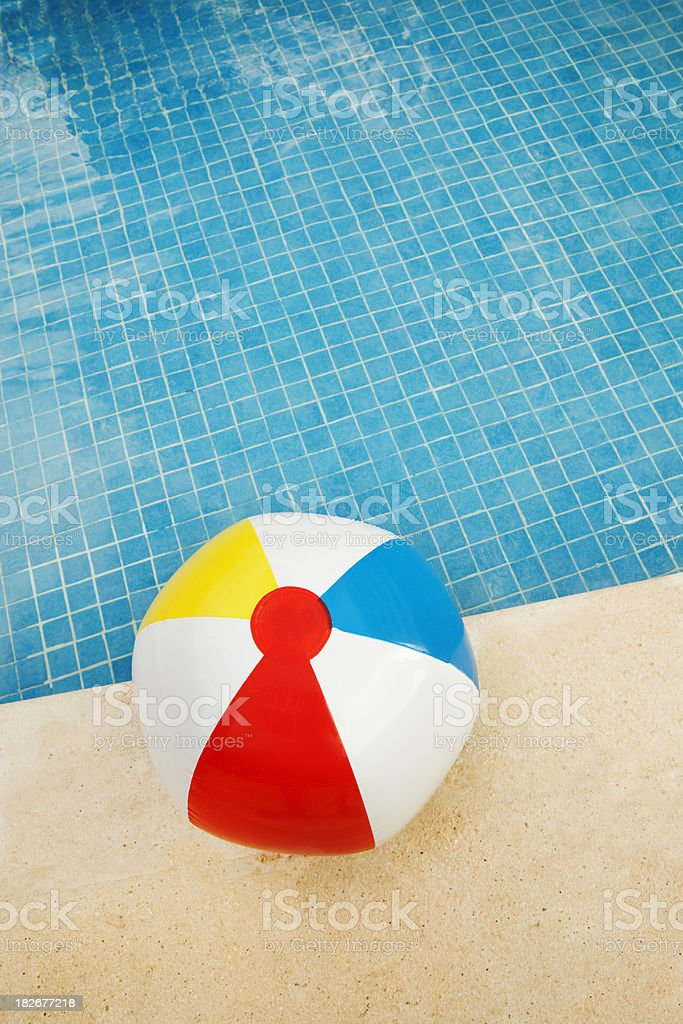 Beach Ball and the Summer Swimming Pool Vt royalty-free stock photo