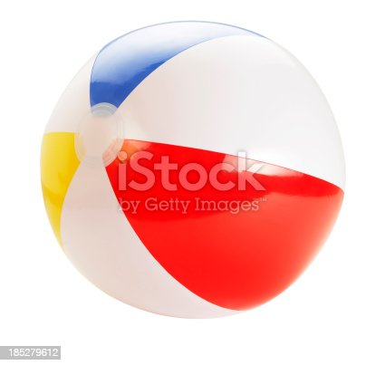 Beach Ball (Isolated With Clipping Path Over White Background)