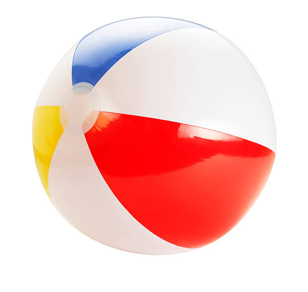 beach ball +clipping path (click for more) - beach ball stock photos and pictures