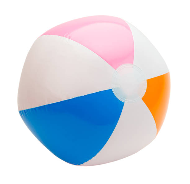 beach ball cut out - beach ball stock photos and pictures