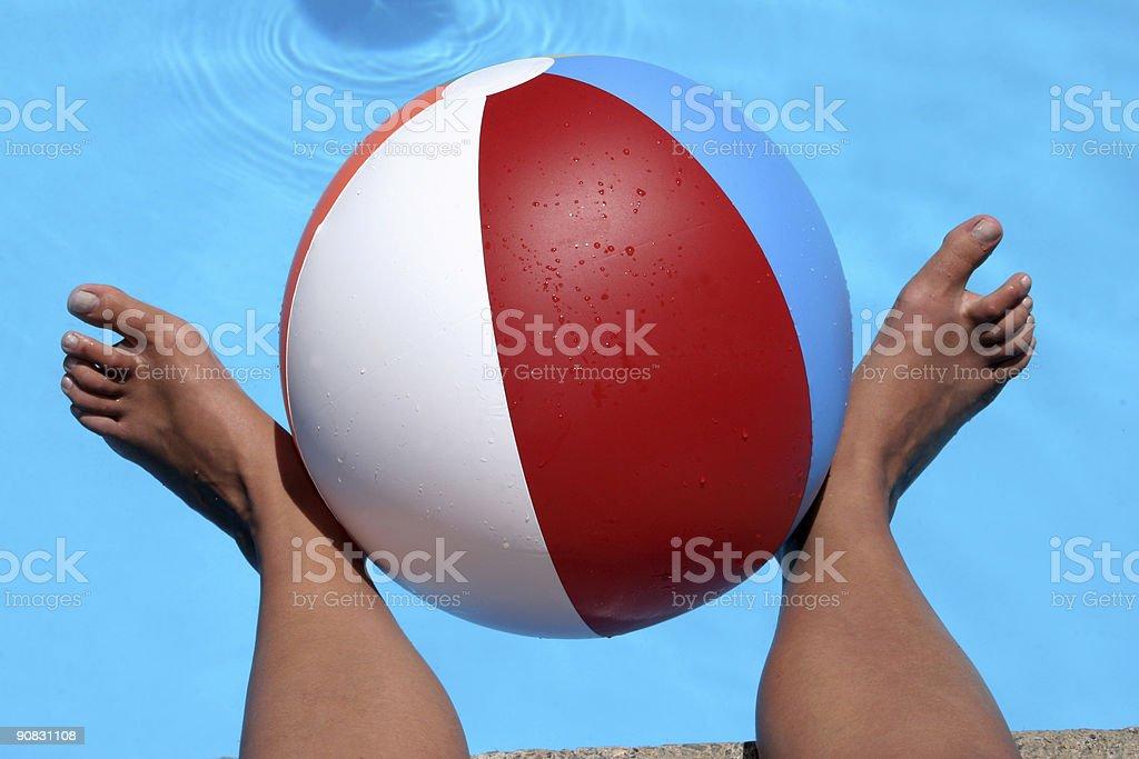 Beach ball Feet royalty-free stock photo