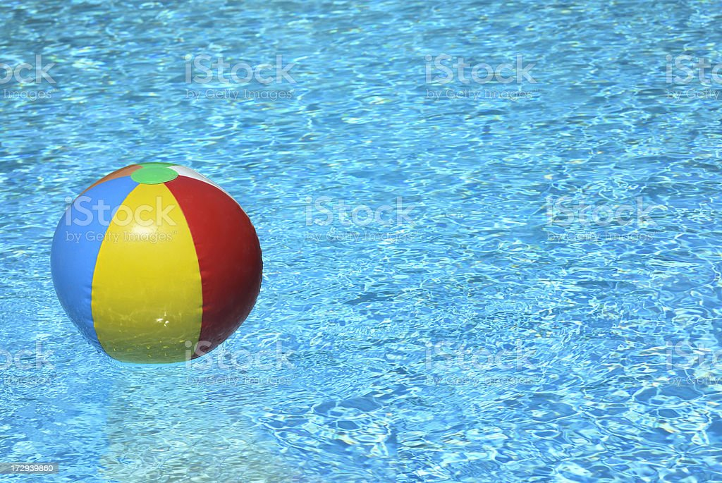 Beach Ball in a Swimming Pool royalty-free stock photo