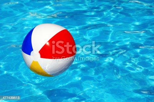 istock Beach ball in swimming pool 477439513