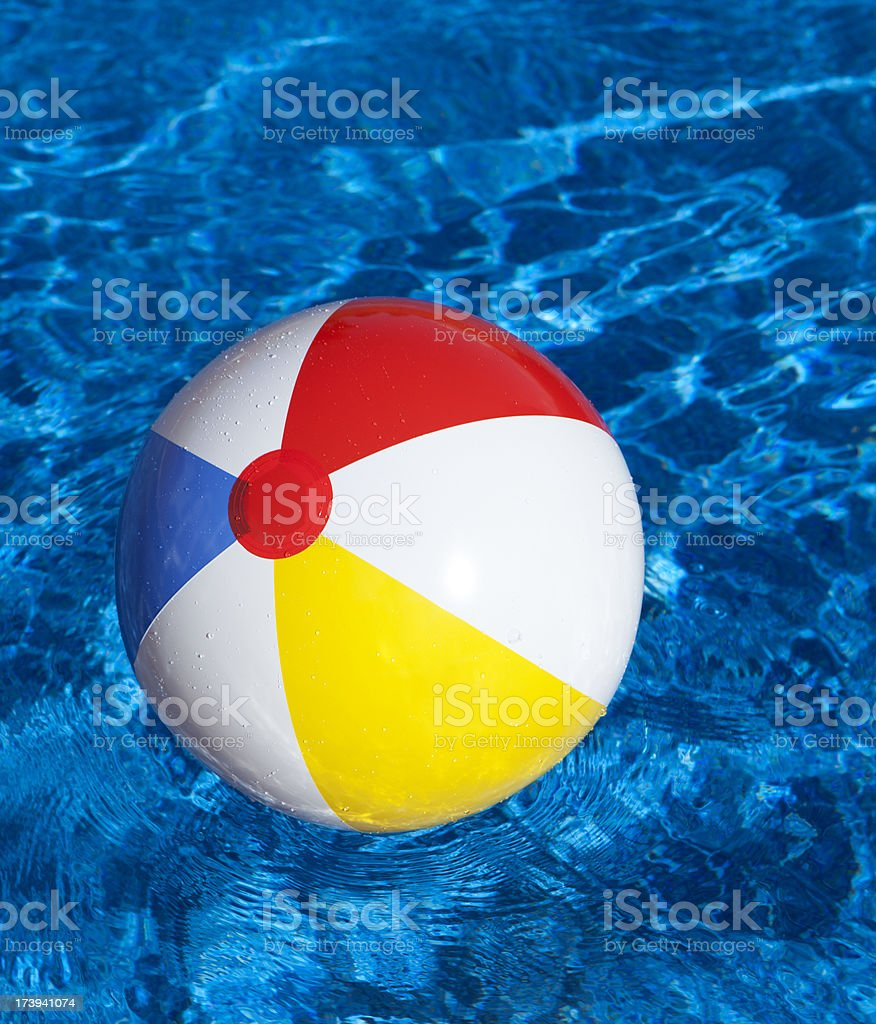 Beach Ball in Water royalty-free stock photo