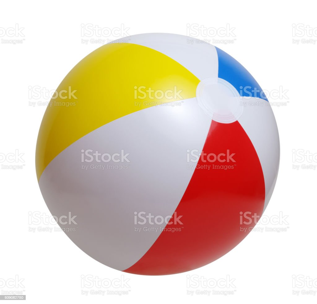 Beach ball isolated on a white stock photo