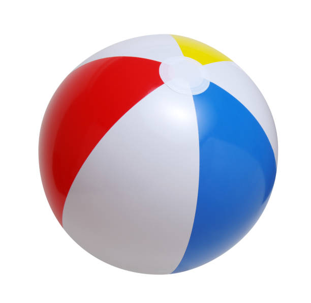 Beach ball isolated on a white