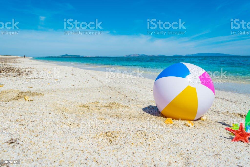 Beach ball on the sand - Royalty-free Beach Stock Photo