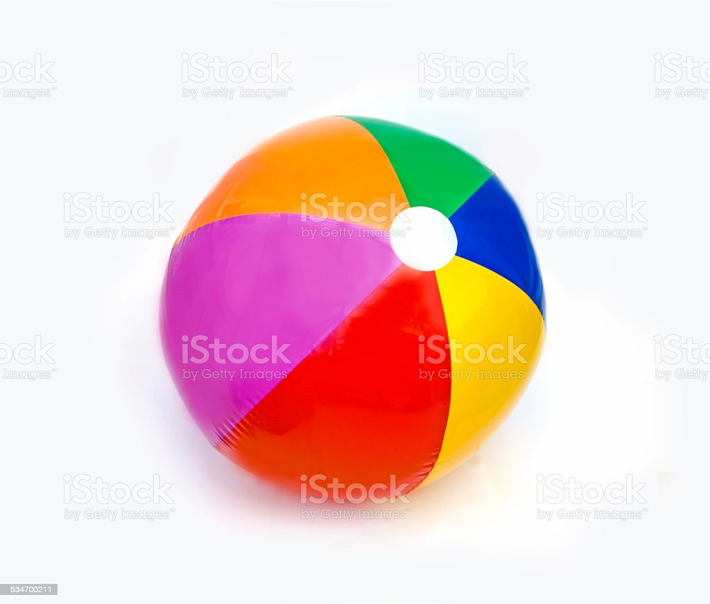 Beach ball on white stock photo