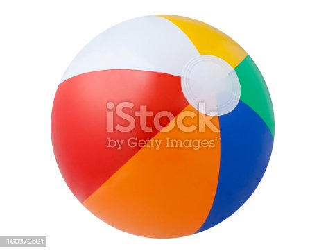 A beach ball isolated on a white background