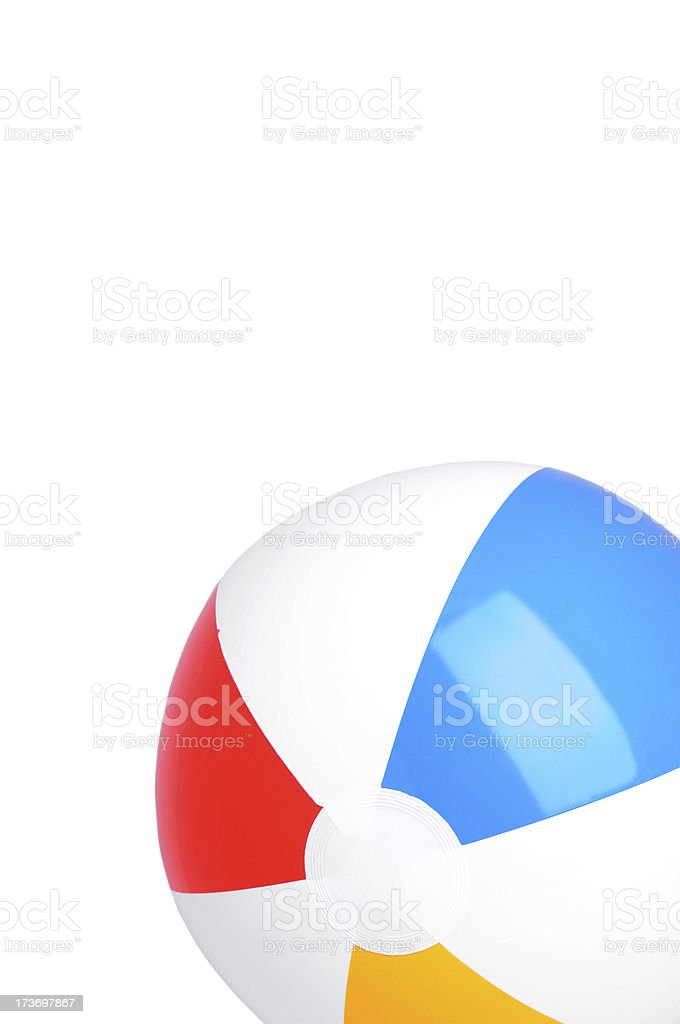 Beach ball (XL) royalty-free stock photo