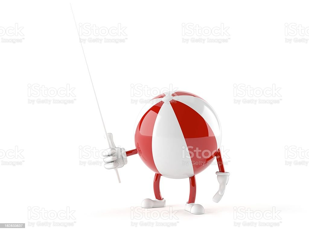 Beach ball royalty-free stock photo