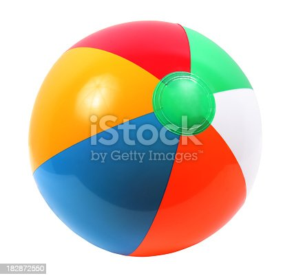 Beach Ball on a white background.