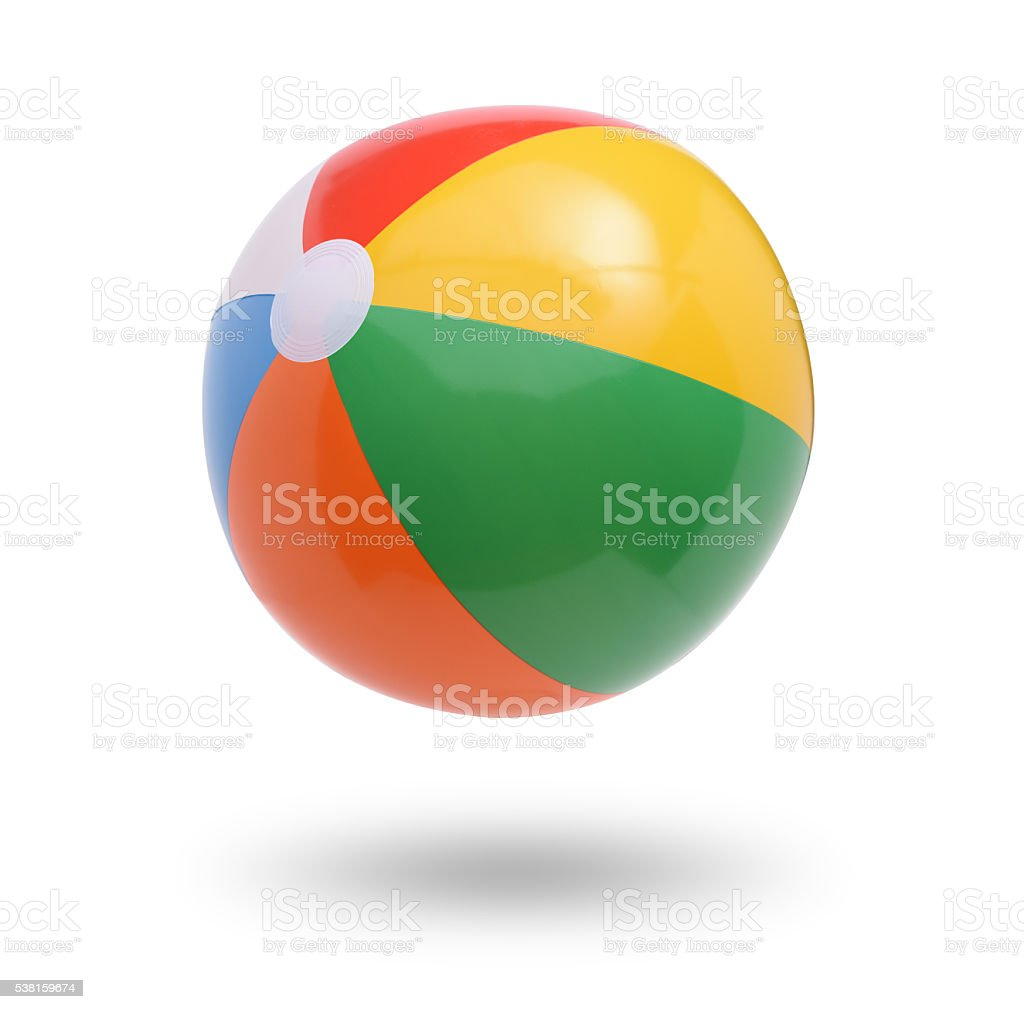 Beach ball isolated on whiteBeach ball isolated on white