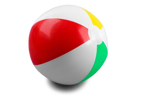 beach ball. - beach ball stock photos and pictures