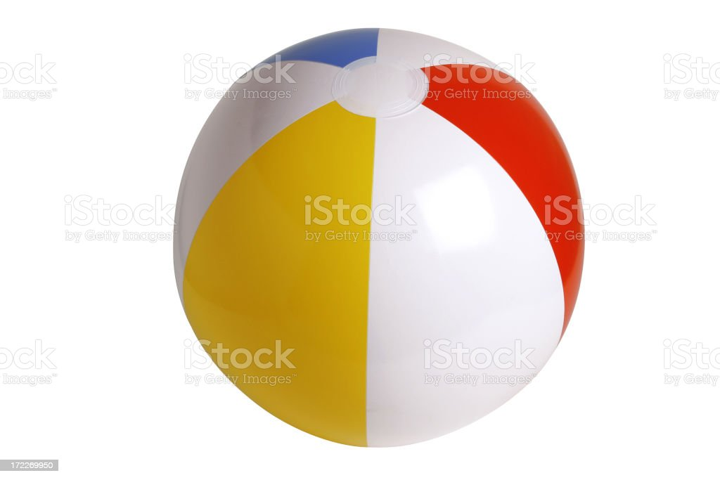 Beach Ball Series (clipping path!) stock photo