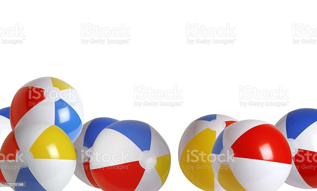 Beach ball Series (border) royalty-free stock photo