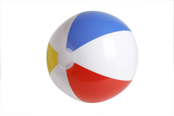 beach ball series (clipping path) - beach ball stock photos and pictures