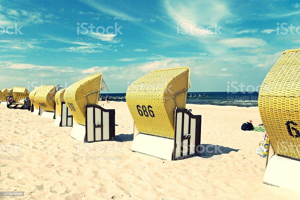 beach baltic sea stock photo