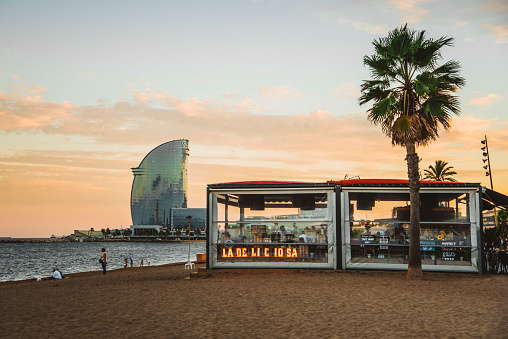 Beach bar at Barceloneta beach