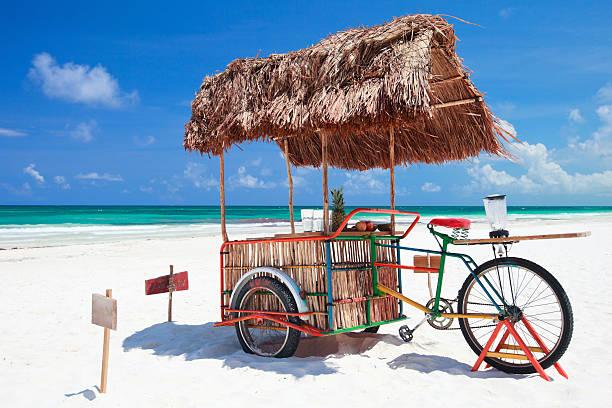 Beach bar bike stock photo