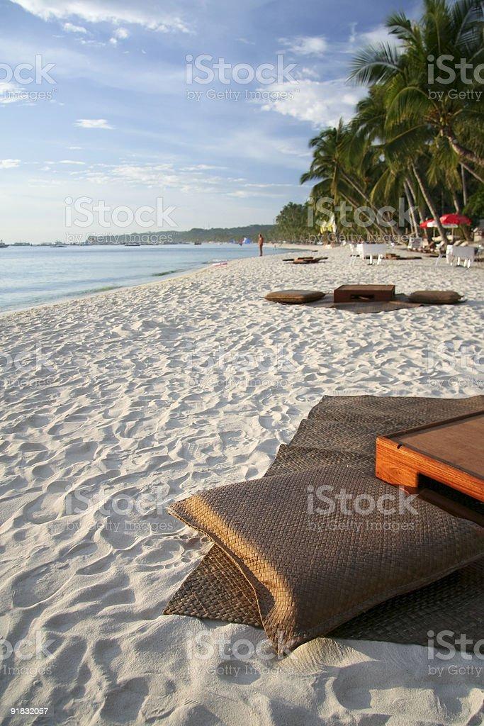 beach bar boracay island philippines stock photo
