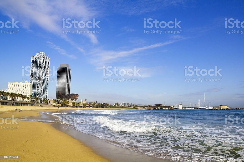 Beach Barcelona royalty-free stock photo