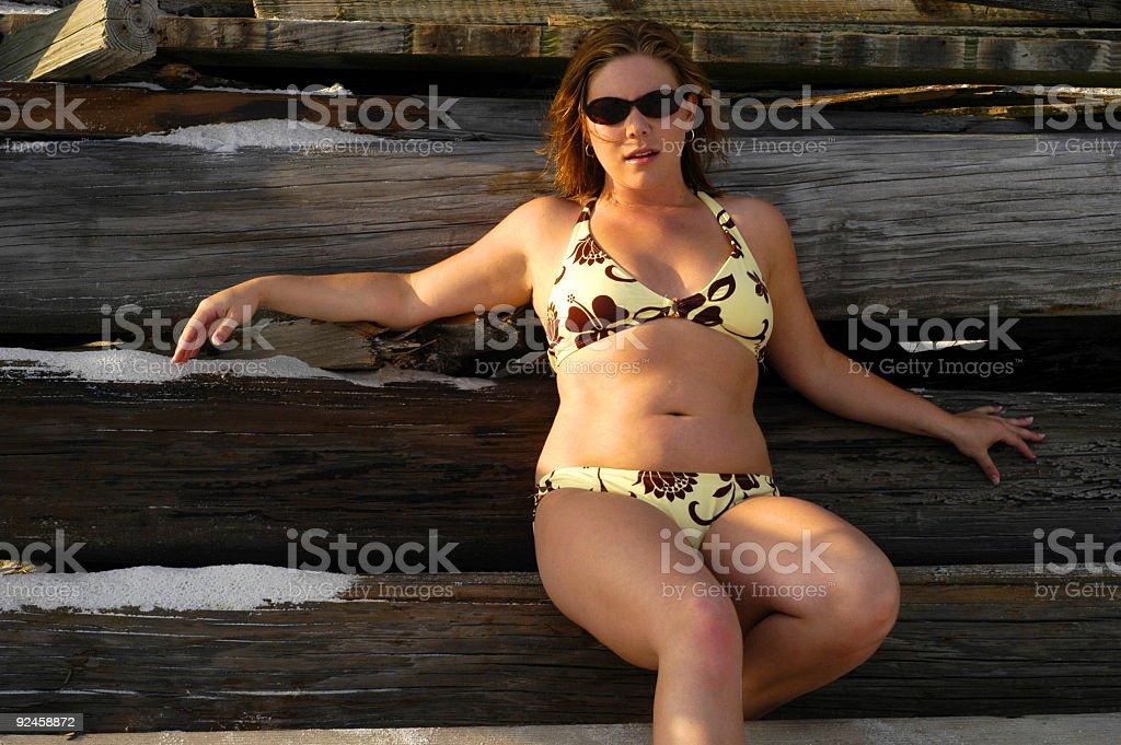Beach Beauty: Breezy royalty-free stock photo