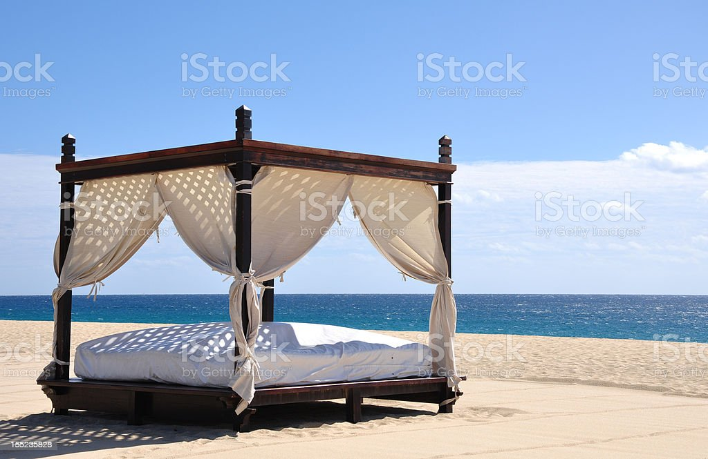 Beach Bed royalty-free stock photo