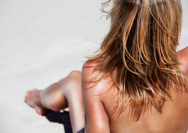 strand-belle - fkk strand stock-fotos und bilder