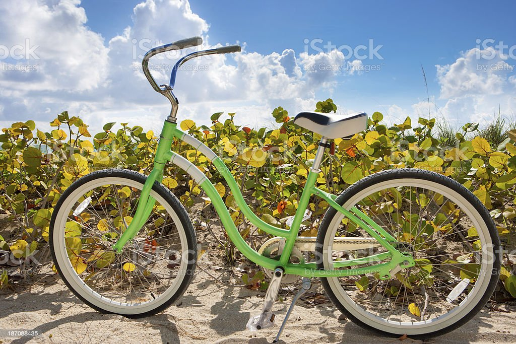 Beach bicycle cruiser royalty-free stock photo