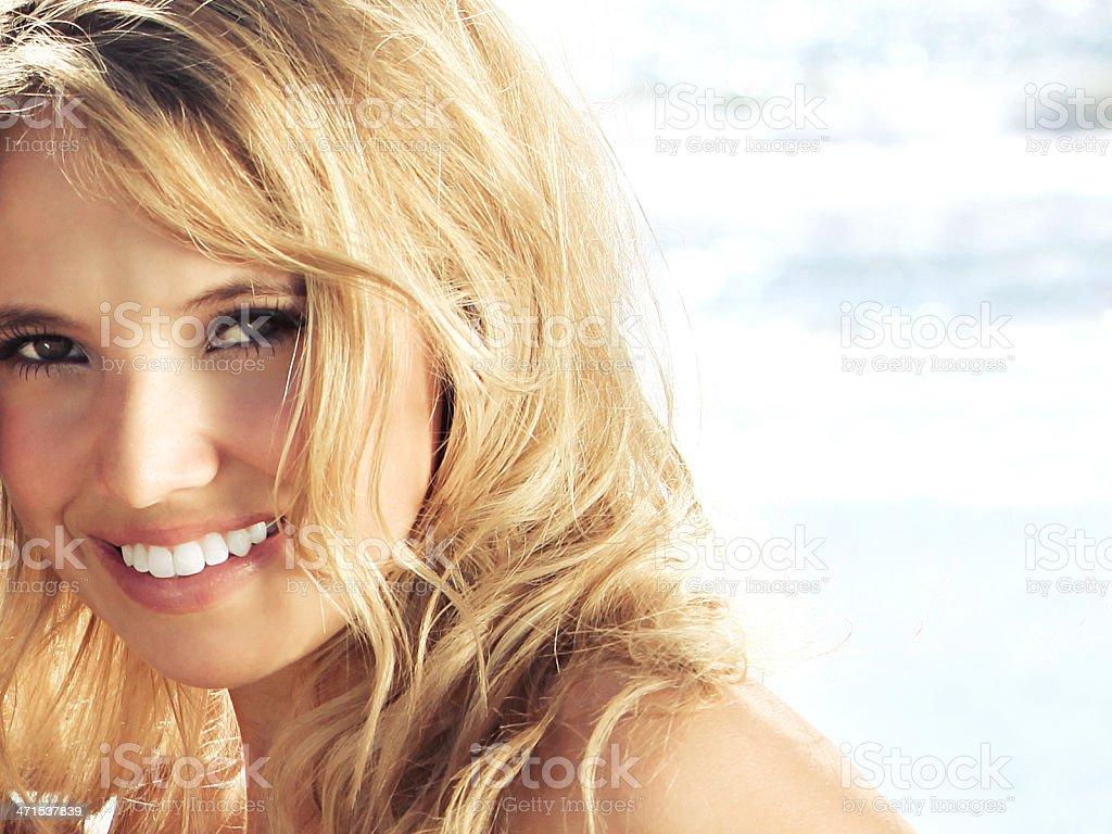 Beach Blonde stock photo