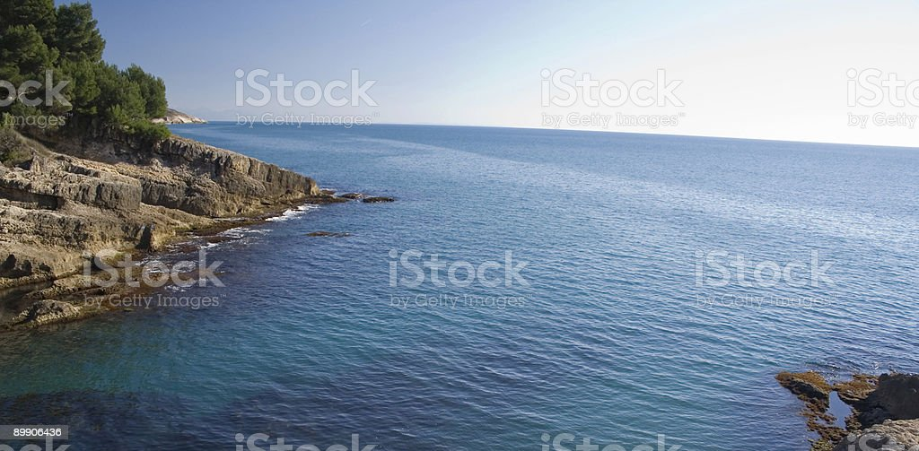 Beach Blue Sea royalty-free stock photo
