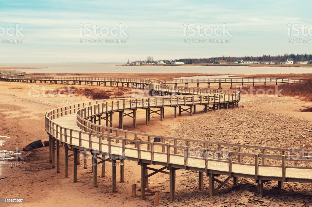 Beach Boardwalk royalty-free stock photo