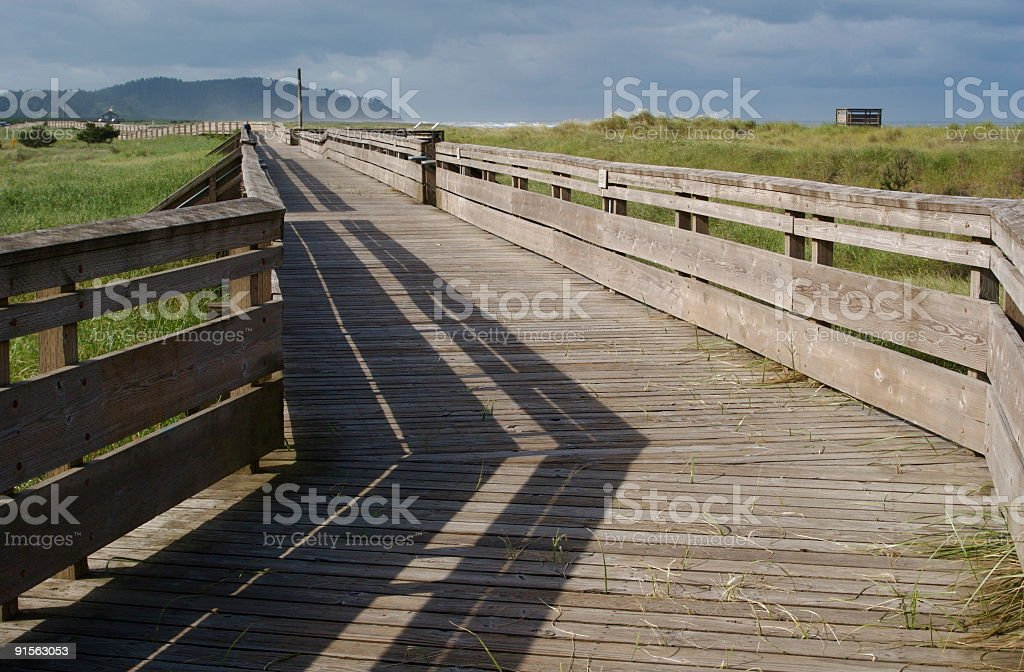 Beach Boardwalk royalty-free stock photo