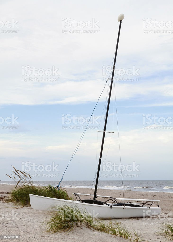 Beach Boat stock photo