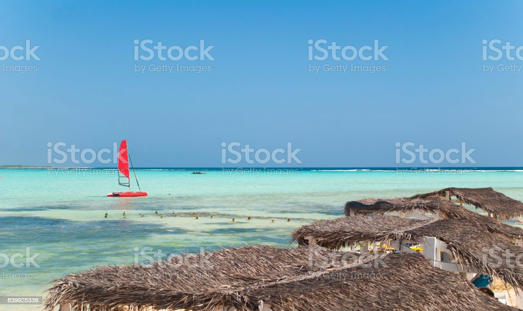 Beach Bonaire stock photo
