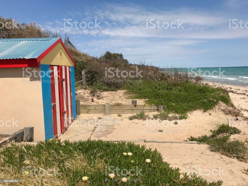 Beach boxes foto de stock libre de derechos