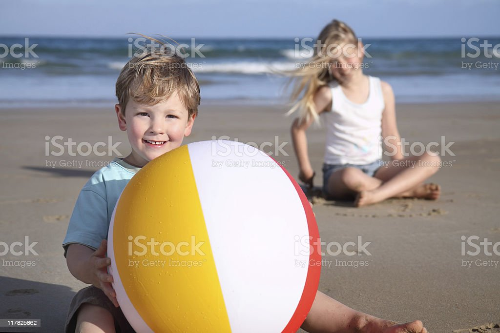 Beach boy. royalty-free stock photo