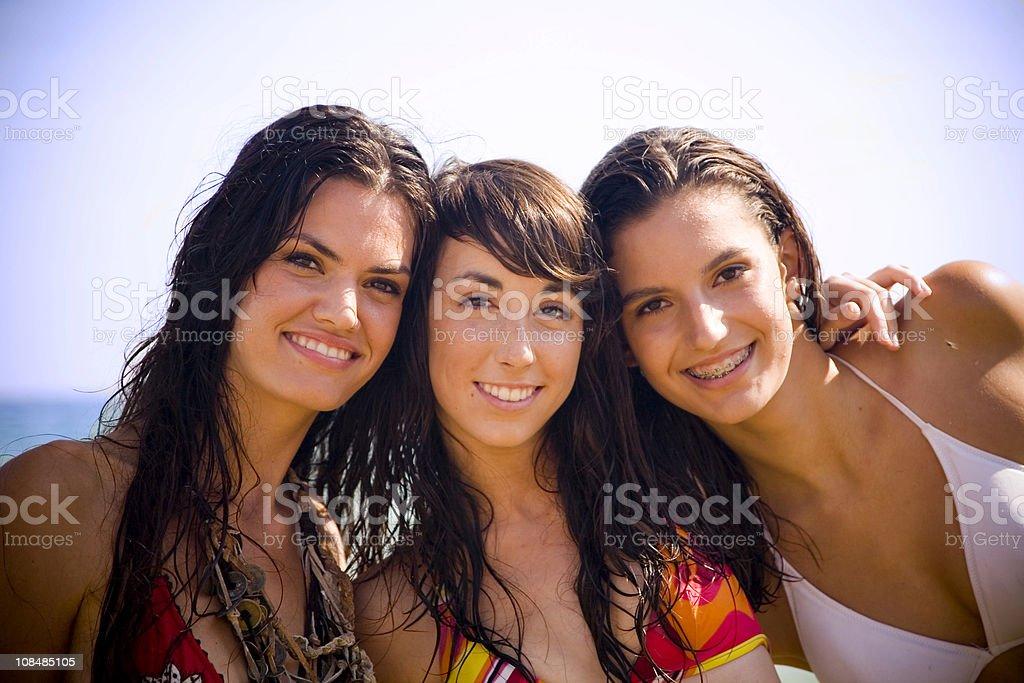 beach buddies royalty-free stock photo