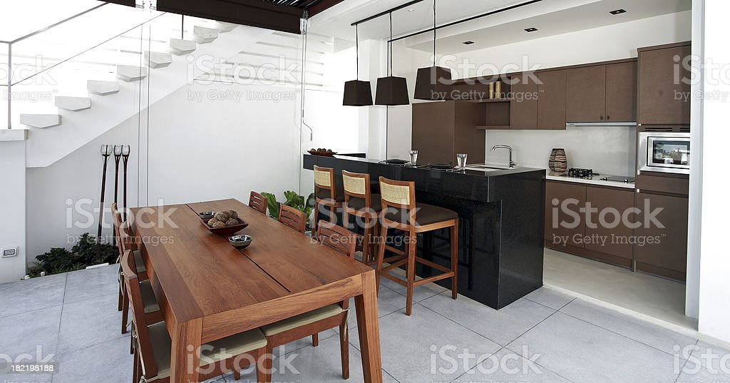Beach Bungalow Kitchen royalty-free stock photo